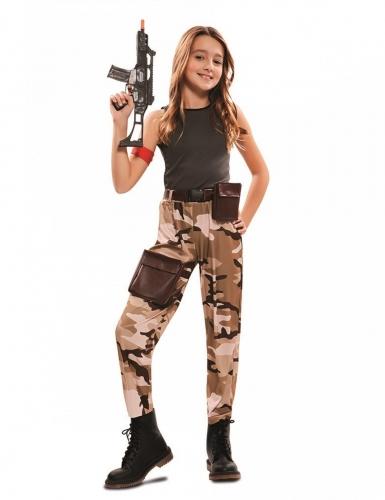 Disfarce soldado menina