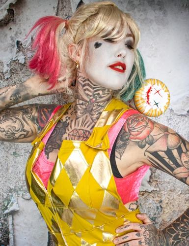 Macacão dourado Harley Quinn Birds of Prey™ mulher-2
