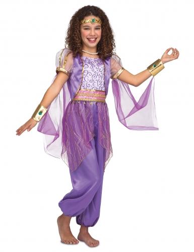 Disfarce princesa oriental violeta menina