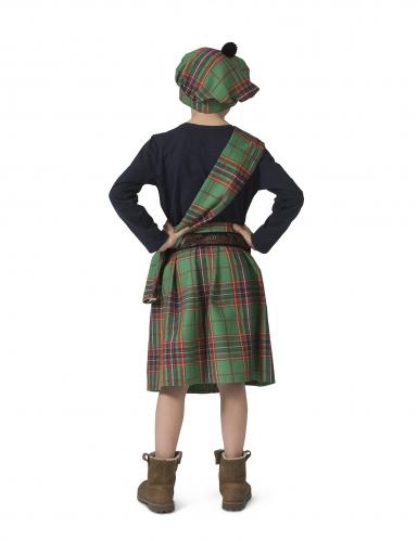 Disfarce escocês verde criança -1