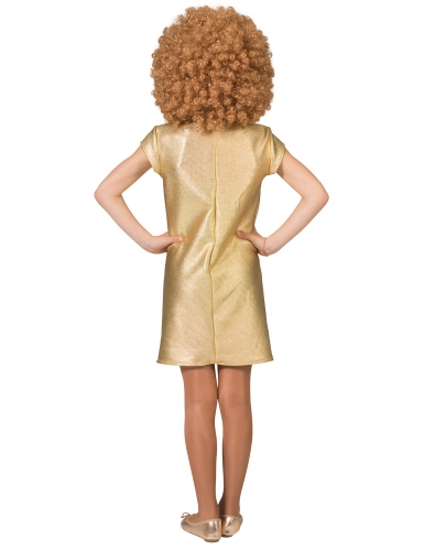 Disfarce Vestido Disco dourado mulher-1