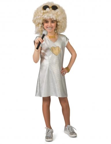 Disfarce vestido prateado disco menina