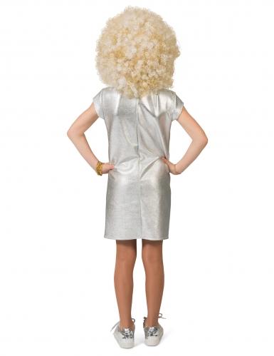 Disfarce vestido prateado disco menina -1