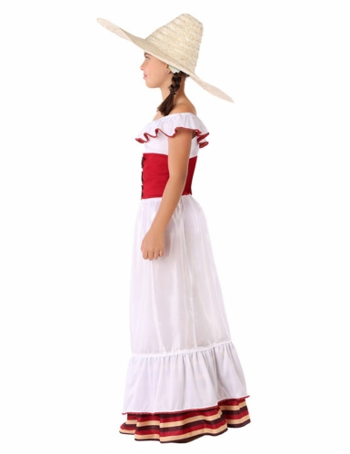 Disfarce mulher Mexicana menina-1