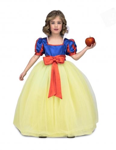 Disfarce princesa de baile amarelo e azul menina
