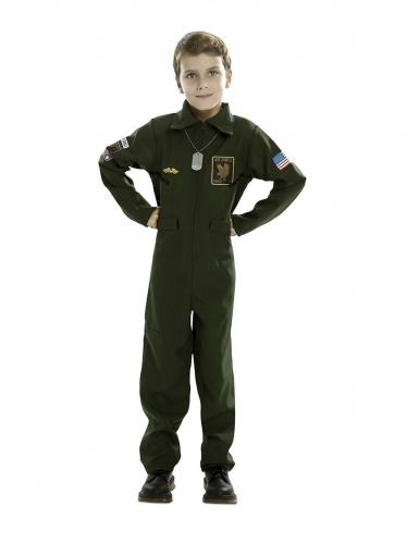 Disfarce de piloto de caça criança