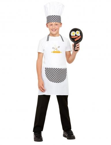 Kit cozinheiro branco criança