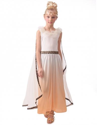Disfarce dourado romana menina