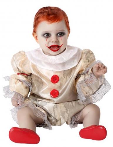 Disfarce palhaço assustador bebé