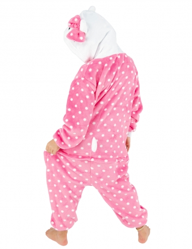 Disfarce gato cor-de-rosa criança-1
