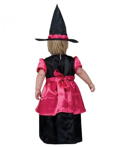 Disfarce bruxa cor-de-rosa bebé-1
