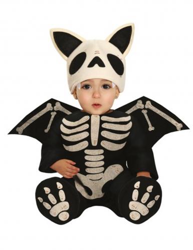 Disfarce esqueleto morcego bebé