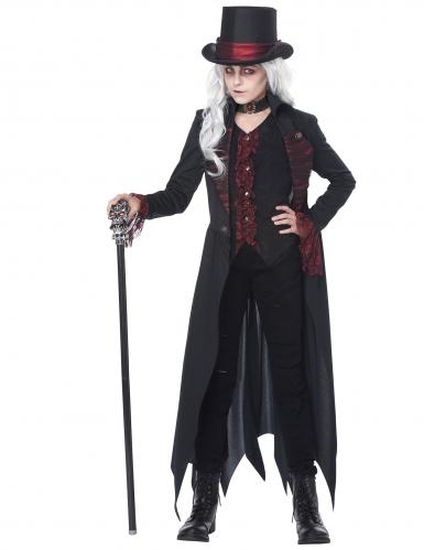 Disfarce vampira gótica menina