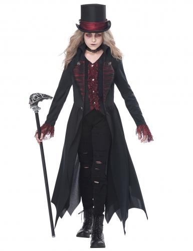 Disfarce vampira gótica menina-1