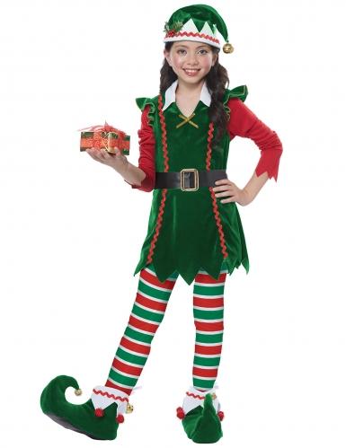 Disfarce duende de Natal menina