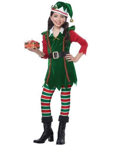 Disfarce duende de Natal menina-1