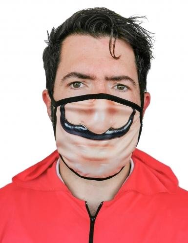 Máscara facial estampada ladrão adulto