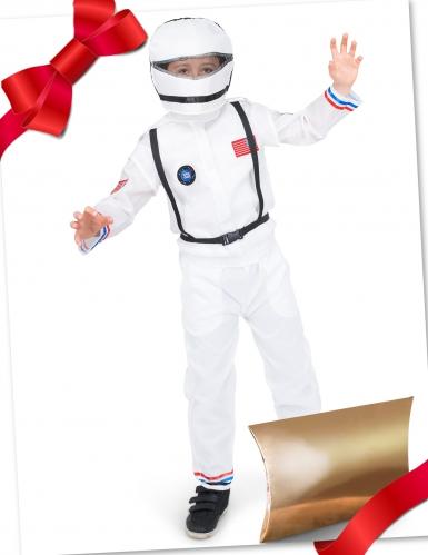 Caixa de presente disfarce astronauta com acessórios criança