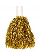 Pompom dourado metálico