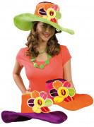 Chapéu com flor para adulto