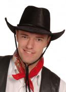 Chapéu de cowboy preto para adulto