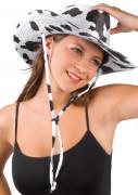 Chapéu de cowboy com padrão pele de vaca para adulto