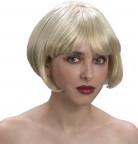 Peruca de cabelos curtos louros para mulher