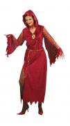 Disfarce de mulher das trevas Halloween
