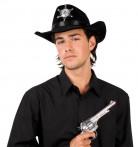 Chapéu de xerife preto adulto