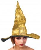 Chapéu de bruxa dourado metalizado adulto