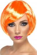 Peruca cabaret curta cor de laranja mulher