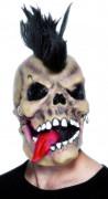 Máscara de esqueleto punk adulto halloween