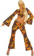 Disfarce hippie dos anos 70 para mulher