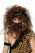 Peruca e barba das cavernas para homem