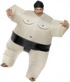 Disfarce lutador de sumo insuflável para adulto