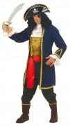 Disfarce de pirata colete azul homem