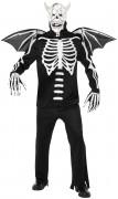 Disfarce demônio esquelético adulto Halloween