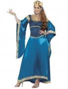 Disfarce rainha medieval luxo mulher