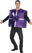 Disfarce presente de Natal violeta para adulto