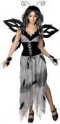 Disfarce de borboleta da mansão mulher Halloween