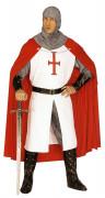 Disfarce de cavaleiro medieval homem com cruz