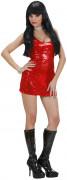 Disfarce com vestido disco vermelho para mulher