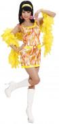 Disfarce vestido 70s cor-de-laranja mulher
