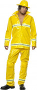 Disfarce de bombeiro amarelo para homem