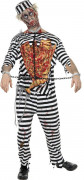 Disfarce zombi prisioneiro homem Halloween