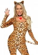 Disfarce sexy de leopardo para mulher