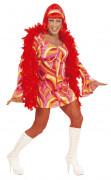 Fantasia Drag Queen disco laranja para homem