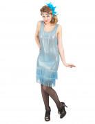 Disfarce de charleston azul com brilhantes mulher