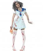 Disfarce zombie marino mulher Halloween