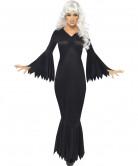 Disfarce vampiro preto mulher Halloween